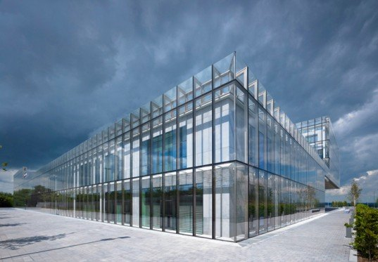 green design, eco design, sustainable design, double skin of glass, Robin Lee Architects, Wexford County Council Headquarters, Ireland, Irish Blue Limestone, Greywater recycling, Evacuated solar tubes, biomass boiler, energy saving architecture, sustainable architecture