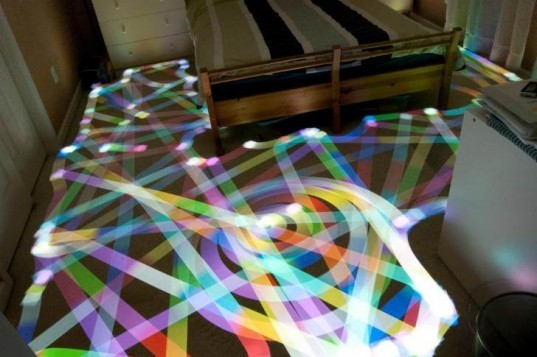 Roomba LED Light Art, Roomba, led lights, eco art, robot art, light painting, robot vacuum