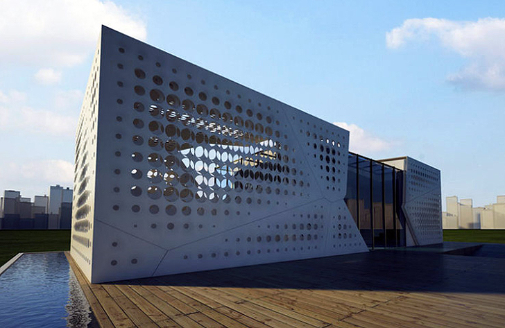 Egypt S Solar Slides House Has A Transforming Perforated