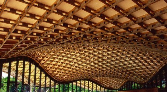 The Savill Building, Glenn Howells, gridshell roof, visitor center, windsor great park, sustainable wood