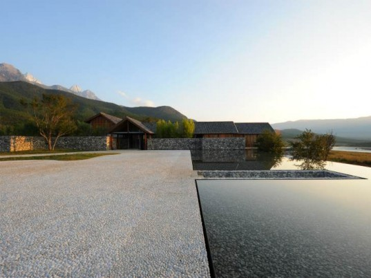 The Water House, Lixiaodong Atelier, lijiang, china, local materials, eco residence, stone house