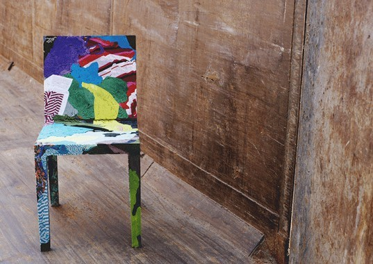 green design, eco design, sustainable design, Casamania, Rememberme, Chair, Tobias Juretzek, upcycled clothing, upcycled chairs, resin cast