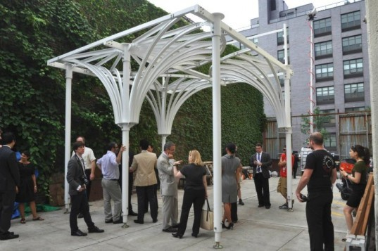 UrbanSHED Urban Umbrella, UrbanSHED Urban Umbrella nyc, urbanshed nyc, urbanshed competition, construction sheds, sidewalk canopy