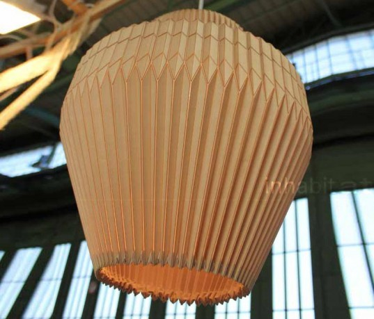 , green lighting, wood lamps, lighting fixtures, eco lighting fixtures, green lamps, pendant lamps, wood pendant lamps, miss maple lamp, accordion lamp