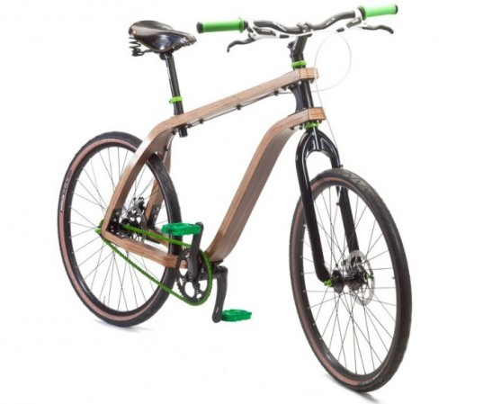 wood bicycle, bicycle with plywood, biking comfort, green transport, modularity, bike plywood, plywood frame,  Stanislav Ploski, Sustainable Materials, Wood bike frames
