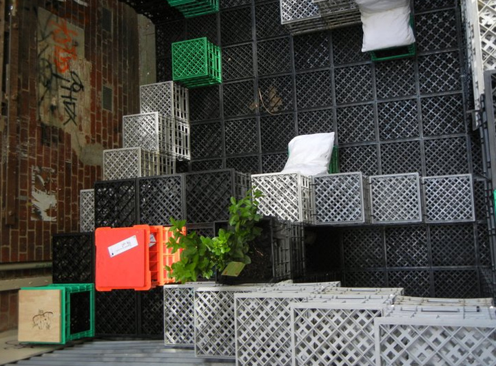 playmo an urban playground constructed of colorful crates in melbourne
