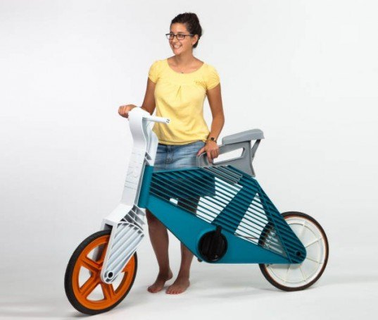 injection-molding, injection-molded bikes, green bikes, recycled materials, recycled bike, diy bike, Dror Peleg, recycled plastic, plastic bottle bike, plastic bike, cruiser bike, bike concepts, bicycle concepts, green bicycles, recycled bicycles