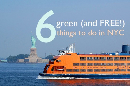 green things to do in nyc, free things to do in nyc, green nyc, green new york, free things to do new york, g