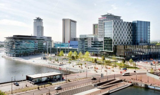 Gillespies, MediaCityUK, media city, media city uk, green spaces, outdoor spaces, public spaces, landscape design, eco design, sustainable design, green design, Wilkinson Eyre, Chapman Taylor, Fairhurst Design Group, Sheppard Robson, benoy architects, parks, uk park, aecom, breeam