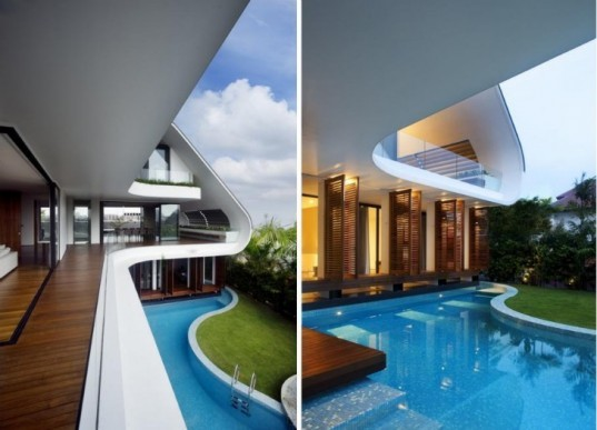 Aamer Architects, Daylighting, eco design, Green Building, green design, green roof, naturally ventilated, Ninety7, Siglap Hill, Singapore, sustainable design