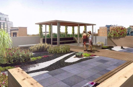 roof garden, green roof, planted roof, gillespies, london green roof, paddington walk, paddington, green design, eco design, sustainable design, green architecture, eco architecture