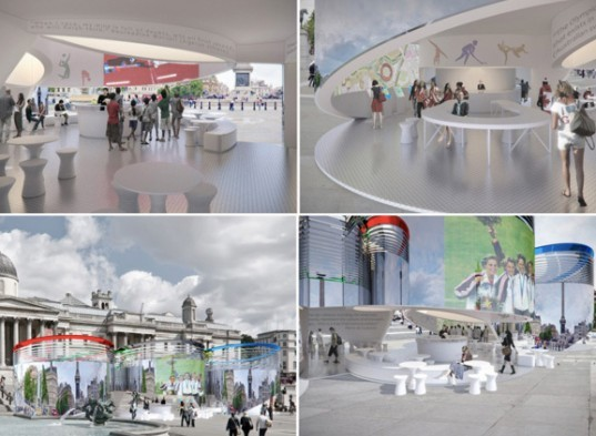 London Olympic Games Information Pavilion, design competition, recycled materials, london olympics, temporary pavilion
