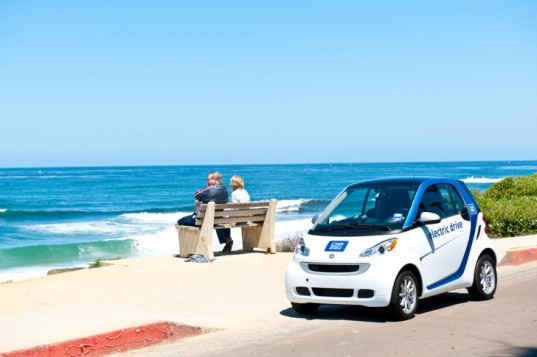 Car2Go, San Diego car sharing, electric car share program, Daimler, car sharing, Smart ForTwo, electric car, electric vehicle, green transportation, alternative transportation, green automotive design