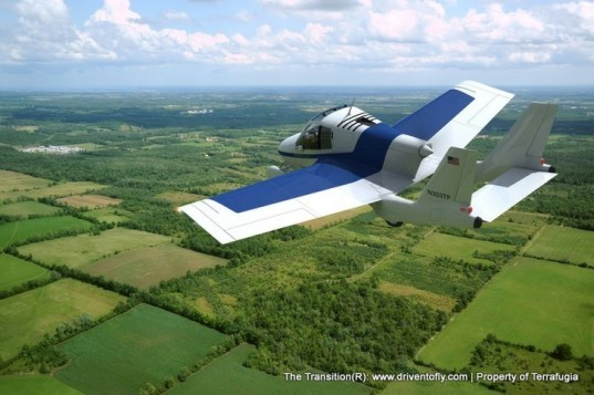 Terrafugia Transition, roadable plane, flying car, green transportation, alternative transportation, green automotive design, green aviation