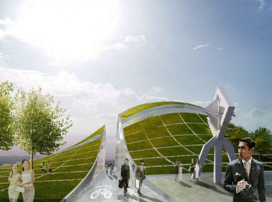 Artscape, HWKN, New Taipei City Museum of Art, green roof, art museum, taiwan, design proposal