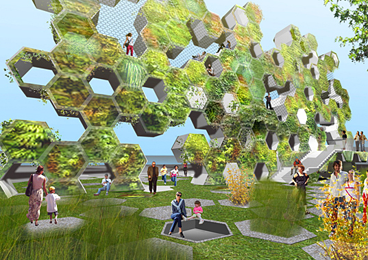 urban park, urban spaces, vertical garden, eco-design, sustainable design, green design, EFGH Arch Design Studio, Rosario City, Parama River, Argentina