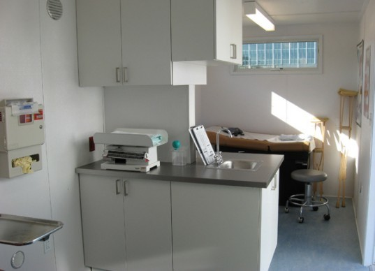 C2C, world health clinic, container design, emergency health clinic,Allied Container Systems, Containers To Clinics, Stack Design Build, c2c health, container health clinic, portable health clinic, green health clinic, portable health lab, keeping container building cool