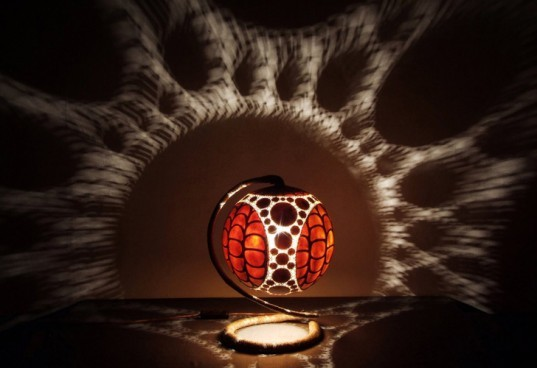 green design, eco design, sustainable design, Calabarte, gourd lamps, recycled materials, recycled lamps, organic lamps