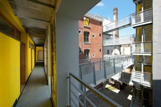 Cheval Noir, L'escaut, atelier Gigogne, green renovation, ada,ptive reuse, brewery, housing project, brussels