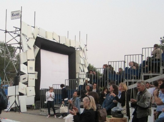 Films on Fridges, london, recycled fridges, pop up cinema, london olympics,