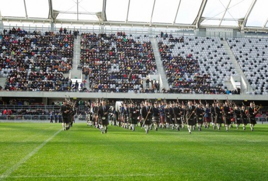 green design, eco design, sustainable design, Rugby World Cup 2011, Ethylene Tetrafluoroethylene, Forsyth Barr Stadium, Populous Architects, New Zealand, Dunedin, Enclosed Stadium, turf stadium