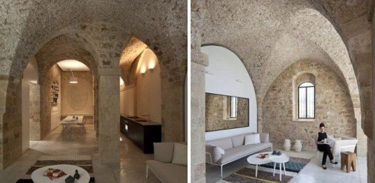 Jaffa Apartment, Israel, Pitsou Kedem, refurbished, natural stone, natural light, sustainable building, green building, eco-building, eco-design, Jaffa, Tel Aviv, Mediterranean Sea