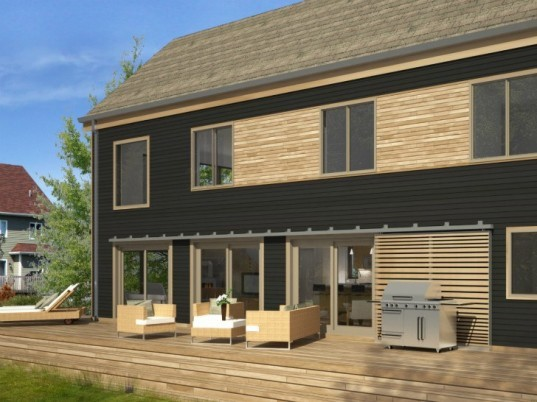 Lofthouse, Blu Homes, prefab home, prefab, new england architecture, traditional architecture, green home