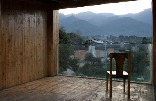 Trace Architecture Office, green building, green design, eco-design, sustainable design, local materials, Museum of Handcraft Paper, China, Yunnan, bamboo, volcanic stone, natural lighting, natural ventilation
