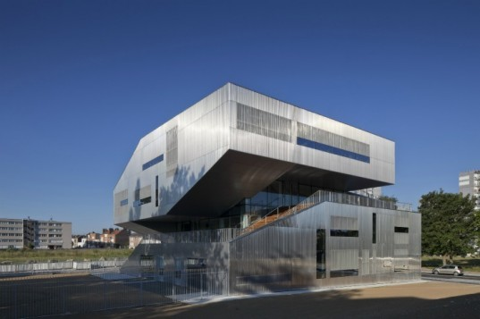 community center, neighborhood center, lille, france, CFA Architecture, green building