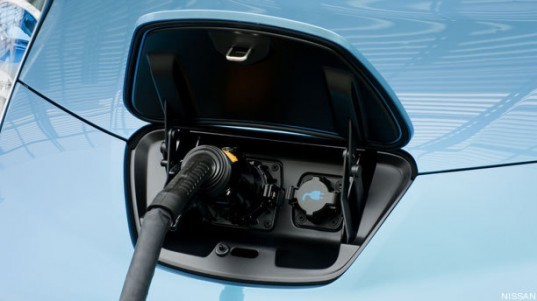 Nissan Leaf charger,smart car charger, power sell back, balance of electric load, green power, smart grid, Leaf sell back power, smart grid electric cars, green transportation,