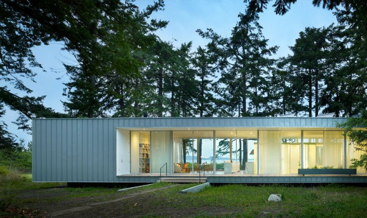 The North Beach Residence Is A Low Impact Green Roofed Summer Home On Orcas Island Inhabitat