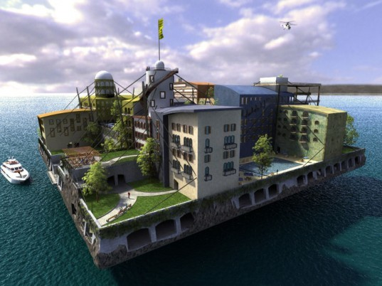 ocean living, Floating Islands International, islands, fake islands, Peter Thiel, sustainable design green design, seasteading institute, paypal