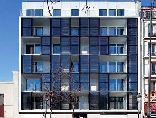 Checkerboard Solar Clad Housing Project Pops Up In Paris