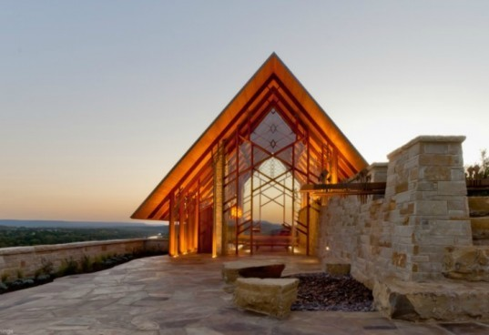 Rio Roca Chapel, Maurice Jennings Architect, chapel, church, organic architecture, local materials, daylighting, texas