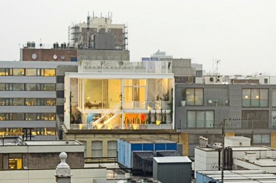 Roof Garden Apartment, Tonkin Liu, rooftop apartment, vertical garden, london, green roof, eco apartment