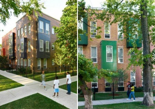 Rosa Parks Apartments, Landon Bone Baker, affordable housing, humboldt park, chicago, green housing, low-income housing