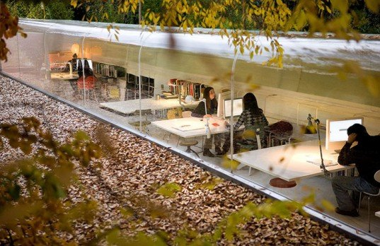 green design, eco design, sustainable design, Iwan Baan, Selgas Cano, Submerged building, natural light, Madrid