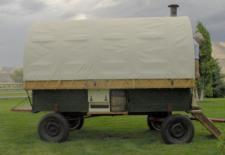 Sheep Wagons Converted Into Rustic Mobile Living Spaces