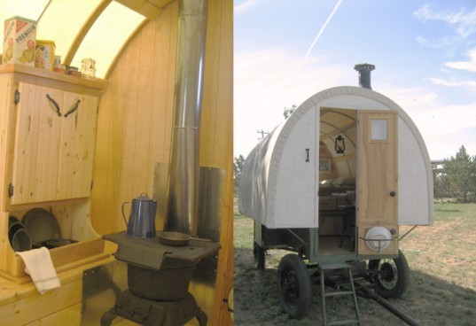 Sheep wagons converted into rustic and adorable mobile living spaces sheep wagons converted - The mobile shepherds wagon ...