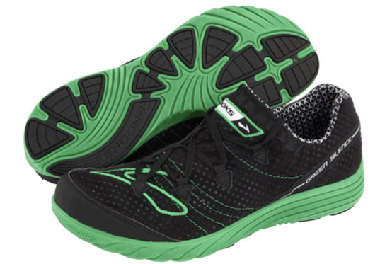 brooks, green silence, eco-friendly running shoes
