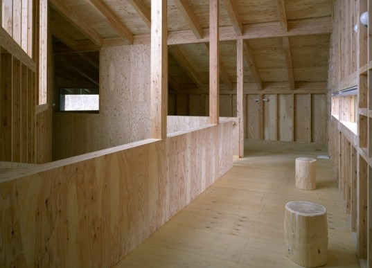 daylighting, ecological housing, green design, sustainable design, eco-design, Bihoro house, japan, sapporo, hiroshi horio, timber, natural materials, vegetable garden, untreated wood, Japan Ministry of Environment