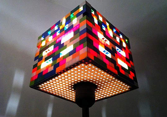Rainbow colored lego lamps cast striking mondrianesque shadows design aloadofball Choice Image