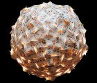 Incredible Pendant Lamp Made From 270 Playing Cards