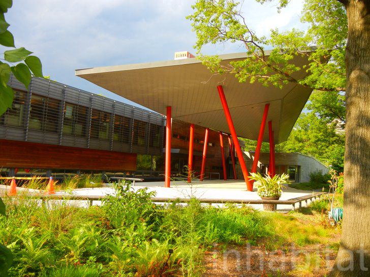 Queens Botanical Gardenu0027s LEED Platinum Visitors Center Boasts A Sloping  Green Roof | Inhabitat   Green Design, Innovation, Architecture, Green  Building