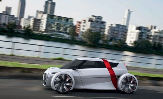Audi Urban Concept, Audi concept car, 1 + 1 concept car, urban concept car, Frankfurt Motor Show, concept car, electric concept car, green automotive design, green transportation, alternative transportation