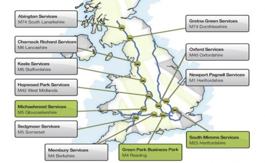 UK EV charging network, UK electric highway, Ecotricity EV charging network, Ecotricity electric highway, solar power, wind energy, green energy, renewable energy, electric car, electric vehicle, EV charging station, EV range anxiety, green transportation, alternative transportation