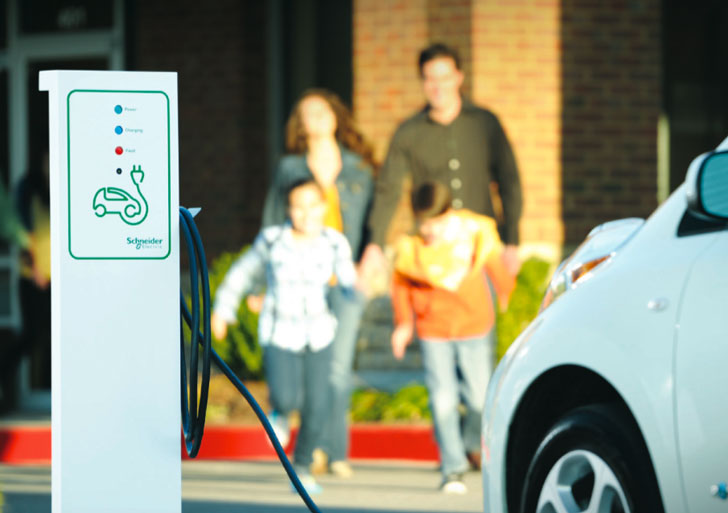 Schneider Electric Unveils Two Car Vehicle Charger