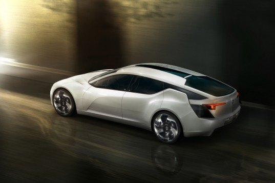 Opel Fuel Cell, Opel luxury fuel cell, Opel concept car, green automotive design, fuel cell, electric car, electric vehicle, electric fuel cell hybrid, alternative transportation, green transportation