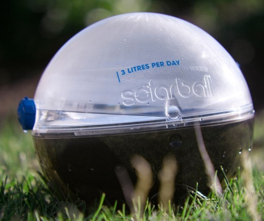 6. Hamster Ball-Shaped Solarball  Designed by Jonathan Liow, a graduate student at Monash University, the Solar Ball is a cylindrical shaped device that utilizes the power of the sun to purify water. Inspired by a trip to Cam
