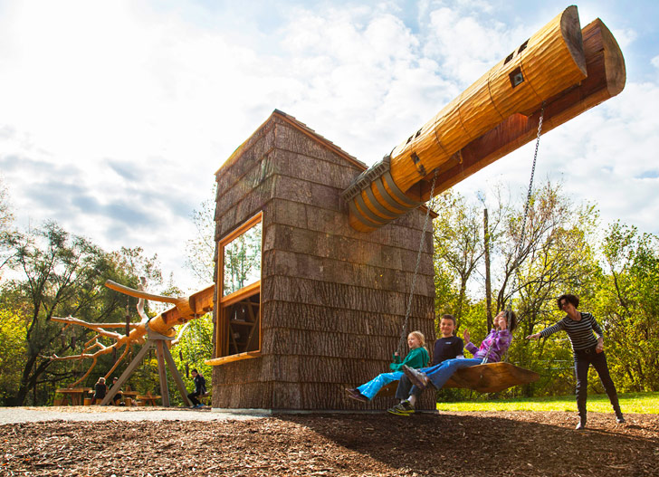 Chop Stick Visiondivision Unveils Swing Set And Visitor